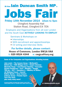 Iain Duncan Smith - Jobs Fair poster